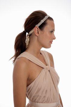 093  Lux Vintage Inspired HandBeaded Headband by UntamedPetals, $185.00
