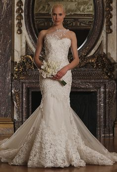 Brides.com: . Wedding dress by Romona Keveza Luxe Bridal Collection