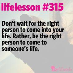 Little Life Lesson