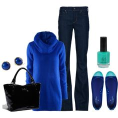 """Winter Blues"" by honeybee20 on Polyvore"