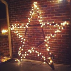 Christmas Star Lights Outdoor Tutorial How To Make An Inexpensive Rustic Star Wall Decoration