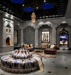 Casbah Cove is a luxury designed Moroccan riad by Gordon Stein Design, nestled in Palm Desert, California's most upscale gated community, Bighorn Golf Club. Modern Moroccan, Moroccan Design, Moroccan Decor, Moroccan Style, Moroccan Lanterns, Design Marocain, Style Marocain, Moroccan Bedroom, Moroccan Interiors