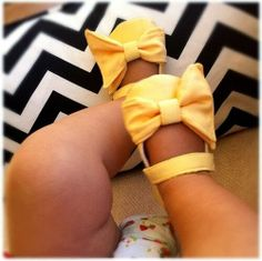 Cute yellow baby foot wear | Fashion World
