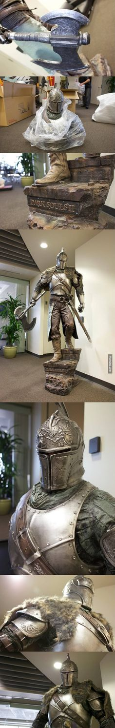 Amazing dark souls 2 full scale statue.