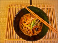 Hearty Miso Udon Soup #macrobiotic