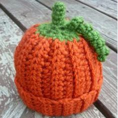 Dress your little one up this Halloween by crocheting a pumpkin beanie. This crochet hat pattern is for newborns zero to three months old and makes for a great gift if you know someone who is expecting around Halloween.