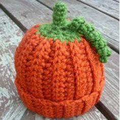 Crochet Beanie Baby Pumpkin | AllFreeCrochet.com