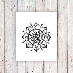 This mandala temporary tattoo looks amazing on your arm or wrist. It's cute and…