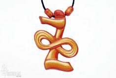 Reiki Jewelry  Zonar  Karuna Reiki Symbol Necklace  by CristherArt