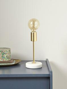 GOLDEN MARBLE LAMP Gilt/marble