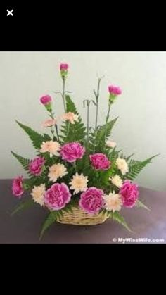 ~ Pin by Tracy Morris on Flowers Basket Flower Arrangements, Funeral Flower Arrangements, Ikebana Flower Arrangement, Artificial Flower Arrangements, Floral Arrangements, Church Flowers, Funeral Flowers, Easter Flowers, Spring Flowers