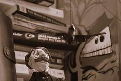 But,  Edgar Allan Poe the character puppet enjoys most his time with his books and stories...