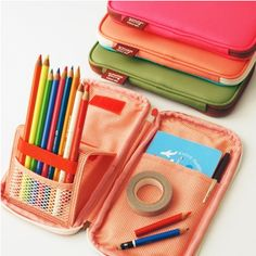 Twin Color Folding Pen Pouch -- one of many pencil case options at MochiThings. If you're into trendy.