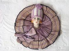 Art Deco Flapper Head Bas Relief Pin Cushion Half Doll with Silk Collar | eBay