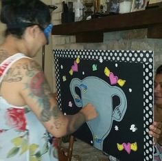 """Diy-Pin the sperm on the uterus baby shower game! Everyone will pin pieces on the uterus, blind folded and spun 3 times (for fun) mom to be will then place her """"egg"""" blind folded as well, who's ever swimmer is closest to her pin wins! Super fun and full of laughs!!"""