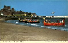 The Viking Boats At Peel
