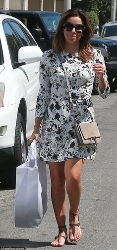 Shopping trip: Eva Longoria indulged her love of designer apparel on Tuesday as she left a...