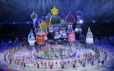 Sochi 2014 Winter Olympics opening ceremony - Characters perform during the ceremony