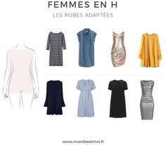 Would you like to know how the robe porter for a morphology in H? Nous vous d . Build A Wardrobe, Work Wardrobe, Capsule Wardrobe, Cute Fashion, Fashion Models, Fashion Outfits, Womens Fashion, Couture, Dressing Your Body Type