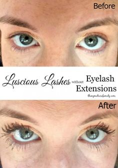 Luscious Lashes without Eyelash Extensions that are so easy to create the perfect daytime or night time look.
