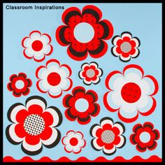 Pretty flower accents! www.ClassroomInspirations.com