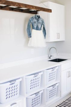 How To Organize Your Laundry Room to be Most Efficient Mudroom Laundry Room, Large Laundry Rooms, Laundry Room Layouts, Laundry Room Remodel, Laundry Room Organization, Laundry Room Design, Laundry Baskets, Laundry Room Floors, Laundry Room Shelving