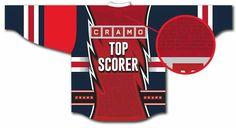 So wird das Cramo Top Scorer Trikot aussehen! Mit deinem Namen? Schnell mitmachen! www.cramotopscorer.com