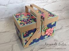 Well hello and welcome from me, Amanda Bates at The Craft Spa to the Jems Blog Hop ...   The theme this time is Boxes or Bags - or indee...