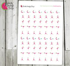 Pilates Stickers, Fitness Stickers, Planner Stickers, Erin Condren, Plum Paper, Limelife, Journals. de SandiaStickers en Etsy