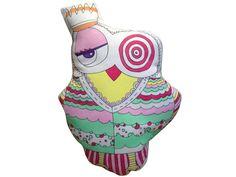 Romantik Kraliçe owl pillow