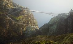 An unusual new footbridge will soon be providing access to the Tintagel Castle site in Cornwall, UK, courtesy of civil engineers Ney