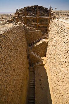 Southern tomb of king zoser at Sankara giza Egypt