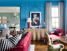 Discover Bright Paint Colors That Top Designers Swear By Bright Paint Colors, Vibrant Colors, Wythe Blue, Foyer Flooring, Bright Paintings, Green Photo, Farrow Ball, My Favorite Color, Furniture Design