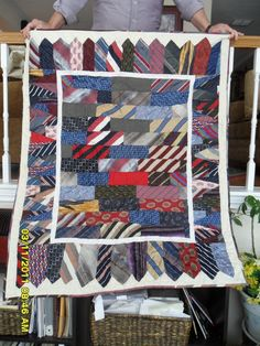 Mens' Tie Quilt I made for a client. www.quilts.cc