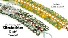 Elizabethian Ruff Bracelet  RounTrio beads ~ Seed Bead Tutorials