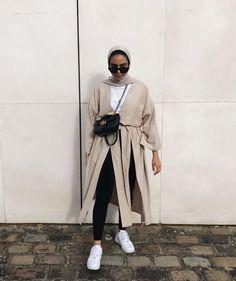 Modern Hijab Fashion, Street Hijab Fashion, Hijab Fashion Inspiration, Muslim Fashion, Modest Fashion, Korean Fashion, Mode Outfits, Casual Outfits, Fashion Outfits