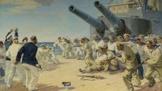 On the anniversary of the mutiny aboard the battleship Potemkin, take a look back at the uprising that helped inspire the Russian Revolution Russian Revolution, Battleship, World History, Art Images, Take That, Fine Art, Artist, Painting, Geography