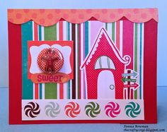 The Crafty Corgi I used coordinating papers and stickers from @Echo Park Paper and a @Studio_Calico Christmas badge to make this card.