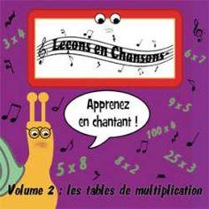 Sortie du volume 2 des le ons en chansons sur les tables for Table de multiplication en chanson