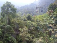 Genting Skyway through the Titiwangsa Mountains to Genting Highlands Resort - Selangor, Malaysia.