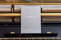 Nils Frahm – Sheets Eins (Deluxe Hardback Book) for 10 Songs incl. Download. 'A very beautiful sort of artefact' - Monocle Good Music, Sheet Music, Songs, My Love, Xmas, Book, Beautiful, Products, Musik