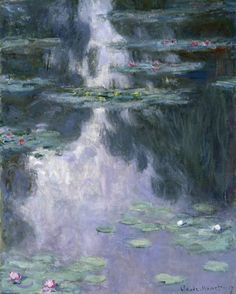Water Lilies (Nympheas) by Claude Monet in oil on canvas, done in Now in the Israel Museum. Find a fine art print of this Claude Monet painting. Claude Monet, Monet Giverny, Giverny France, Monet Paintings, Landscape Paintings, Monet Poster, Artist Monet, Kunsthistorisches Museum, Impressionist Paintings