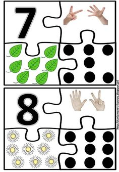 Puzzles 7 et 8 Preschool Education, Kindergarten Activities, Preschool Activities, Numbers For Kids, Math Numbers, Act Math, Material Didático, Maths Puzzles, School Worksheets
