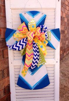 Cross with Beautiful Bow Door Hanger on Etsy, $35.00