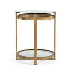 Retro Glitz Glass/ Metal End Table Glass Top End Tables, Metal End Tables, Glass Table, Sofa Side Table, Corner Table, Coffee Table Computer, Iron Art, Living Room Sofa, Furniture