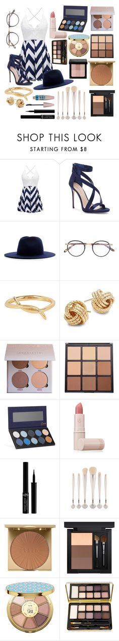 """My Girlfriend (formal romper?)"" by torijule ❤ liked on Polyvore featuring Imagine by Vince Camuto, Études, Garrett Leight, KATKIM, Saks Fifth Avenue, Morphe, Luxie, Lipstick Queen, Giorgio Armani and Maybelline"
