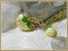 "Lauren G Adams Yellow Enamel Strawberry Pendant Necklace New 42""Chain Ship now #LaurenGAdams #Pendant"