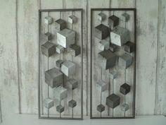 Metalen wanddecoratie Eos in frame set van 2 - ABSTRACT - WANDDECORATIE METAAL | DEKOGIFTS Abstract, Painting, Home Decor, Summary, Decoration Home, Room Decor, Painting Art, Paintings, Painted Canvas