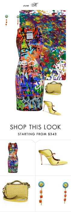 """Abstract 2/6: Jackson Pollock"" by eva-kouliaridou ❤ liked on Polyvore featuring Moschino, Malone Souliers and Tod's"