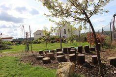 V dubnu již začínají krásně kvést stromy na zahradě...